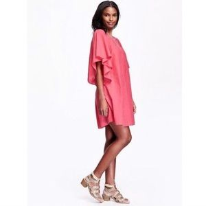 Old Navy Women's Batwing Sleeve Shift Dress coral